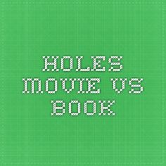 holes movie vs book