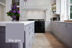 Information About Purple Kitchen Ideas Painting Lavender 87 - sitihome Purple Kitchen Cabinets, Solid Wood Kitchen Cabinets, Painting Kitchen Cabinets, Kitchen Paint, Gray Cabinets, Updated Kitchen, New Kitchen, Kitchen Ideas, Shaker Style Kitchens