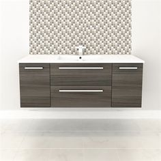 Cutler Kitchen & Bath Silhouette Collection 48-in Wall Hung Vanity With Top