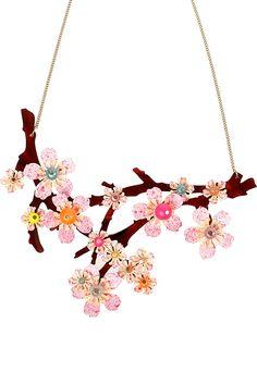 Acid Cherry Blossom Necklace - Large