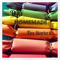 DIY Fire Starters - so easy, cute and practical!