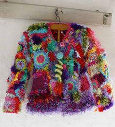 wow!!! crochet sweater...by Elena Fiore