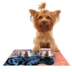 Kess InHouse Mat Miller 'Fraser' Feeding Mat for Pet Bowl, 24 by 15-Inch >>> Click image to review more details. (This is an affiliate link) #MyCat
