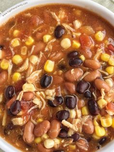 7 Can Chicken Taco Soup
