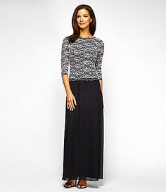 Alex Evenings Sequined Lace Gown #Dillards