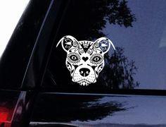Zentangle Pit Face Dog Decal Window Sticker