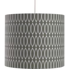 Oval Geometric Print Shade - Grey at Homebase -- Be inspired and make your house a home. Buy now.