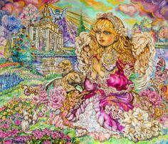 The Angel of Praying by Yumi Sugai - Cross Stitch Pattern