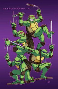 Teenage Mutant Ninja Turtles by Kate Bradley