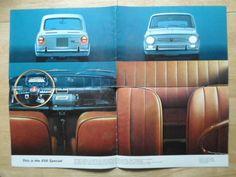 FIAT 850 SPECIAL orig 1968 1969 UK Mkt sales brochure | eBay