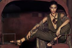 Adriana Lima | Russell James  #photography | Donna Karan Spring/Summer 2012