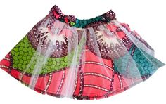 Print mini skirt frilled with a top layer of soft touch tulle. Boho Shorts, Tulle, Mini Skirts, Tops, Women, Fashion, Moda, Fashion Styles, Tutu
