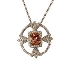 Imperial Topaz and Diamond Pendant  Reference Number:Pd10744