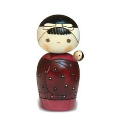 Shingata kokeshi with baby
