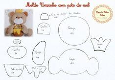 Moldes para Feltro: Urso