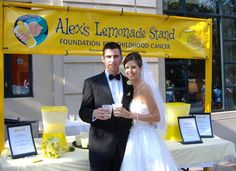 Show your support for childhood cancer by including Alex's Lemonade Stand at your wedding. AlexsLemonade.org