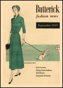 1945-1950  Butterick Magazine Dressmaking Pattern Design Covers 1949