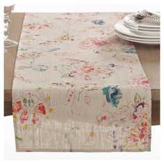 Printed Floral Table Runner