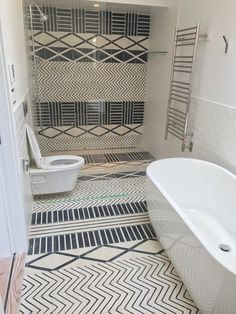 Graphic Tile from Marrakech Design Will Rock Your Home | Sweden meets Morocco in this beautiful patterned tile.