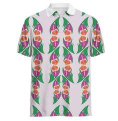 Iris Garden Polo Shirt 100% Cotton