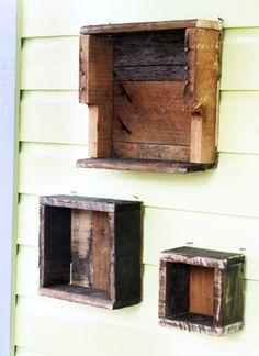Wood Shelf Shadow Box Set of and Wall Shelf Shadow Box Shelves, Wood Shadow Box, Pallette Furniture, Diy Pallet Furniture, Wood Wall Shelf, Wood Shelves, Pallet Shelves, Scrap Wood Projects, House Projects