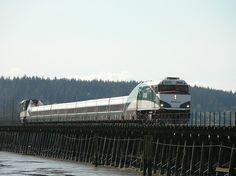 Amtrak Cascades Mud Bay Surrey BC 08-04-2005 10-28AM by Stephen Rees, via Flickr