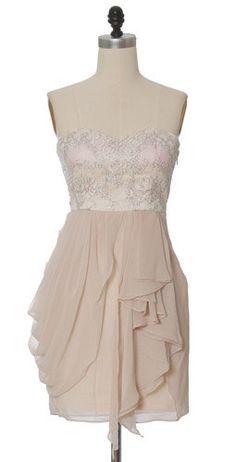 Champagne Chiffon Tier Dress