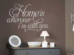 Home is Wherever Im With You  Inspirational home by decalSticker, $49.00