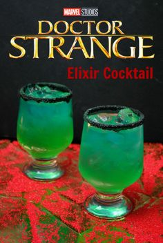 Strange Elixir Cocktail With Dr. Strange available on DVD today, what better opportunity to have a Dr. Strange Elixir Cocktail recipe than while you are watching it! Liquor Drinks, Cocktail Drinks, Cocktail Recipes, Beverages, Vodka Cocktails, Mixed Drinks Alcohol, Alcohol Drink Recipes, Fireball Recipes, Glace Fruit