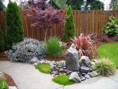 Landscaping With Fountains, Garden Water Fountains, Modern Landscaping, Backyard Landscaping, Back Garden Design, Japanese Garden Design, Outdoor Water Features, Water Features In The Garden, Asian Garden