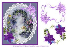 The Garden at Dusk step by step decoupage on Craftsuprint designed by Pamela West - The Garden at Dusk step by step decoupage made from one of my latest watercolour paintings - Now available for download!