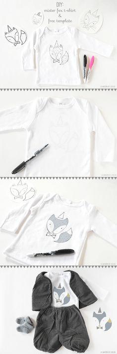 Mister Fox T-shirt & free TEMPLATE by La maison de Loulou