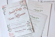 We created a custom watercolour painting of Tankardstown House which was placed on the inside of the folio pocketfold. The invitation was printed on the right side of the pocket in rose gold foil font. Unique Wedding Invitations, Wedding Stationery, Rose Gold Foil, Wedding Story, Watercolour Painting, Bespoke, Rsvp, Fairy Tales, Marriage