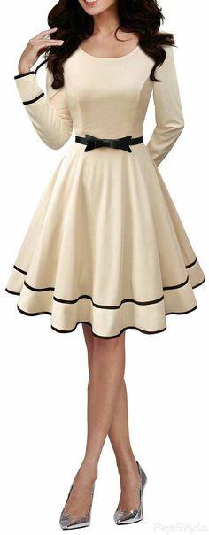 ¿Qué os parece este look de los años '50? ¿Creen que con un complemento, como un collar, por ejemplo, luciría mejor?  #eslavia   #complementos   #collar  http://wp.me/p8qGNK-gD