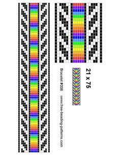 bead loom patterns | Rainbow stip