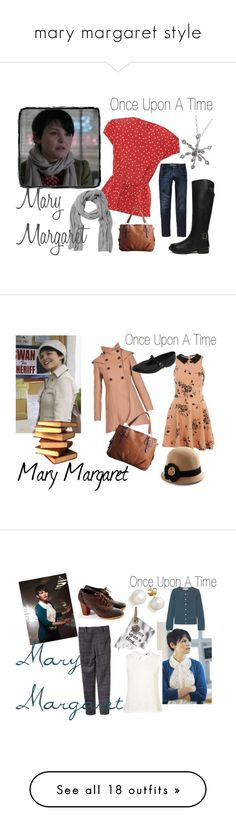 """""""mary margaret style"""" by onceuponanovel ❤ liked on Polyvore featuring A