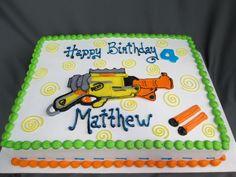 Nerf Gun Themed Birthday Sheet Cake @sugarshackscia