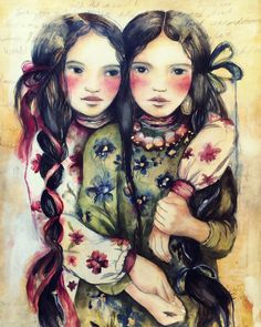 The twin sisters art print by claudiatremblay on Etsy