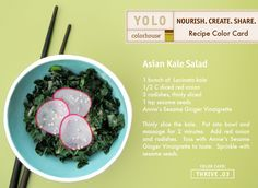 YOLO Colorhouse Recipe Color Card:  Kale Salad