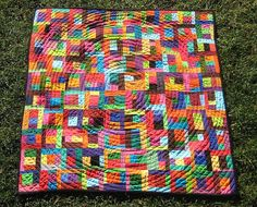 Scrappy Baby Quilt by Pippa Patchwork, via Flickr