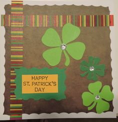 Silhouette Cameo, St. Patrick's Day, washi tape border
