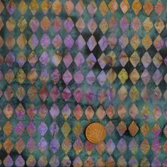 Hoffman 3324 718 Harlequin Teal/Purple/Green Batik 100% Cotton Fat Quarter