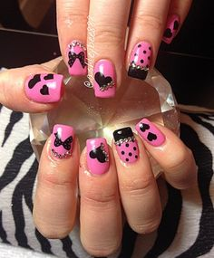 Day 43: Bows and Hearts Nail Art - - NAILS Magazine