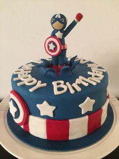 Chocolate cake with vanilla buttercream filling. #captainamerica #birthday #muscat #oman #fortheloveofit #fortheloveofcake
