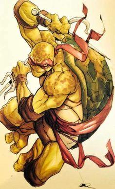 Teenage Mutant Ninja Turtles - Raphael by Humberto Ramos *