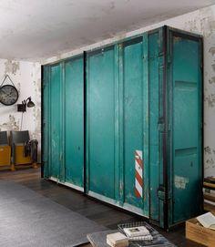 Express Solutions Schwebetürenschrank ab 499,99€. Schrank in Container-Optik, Mit hochwertigen Digitaldruck, Durch den Druck jeder Schrank ein Unikat bei OTTO