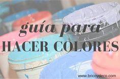 guía para hacer colores tú mismo