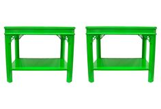 One Kings Lane - Chippendale-Style End Tables, Pair