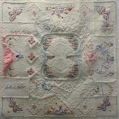 vintage handkerchief quilt - Yahoo Image Search Results Vintage Textiles, Vintage Quilts, Vintage Linen, Quilt Stitching, Applique Quilts, Homemade Quilts, Free Motion Quilting, Crazy Quilting, Vintage Handkerchiefs