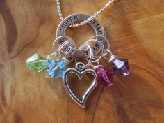 LITTLE SISTER  Birthstone Charm Necklace  by DestinyAccessory, $21.00